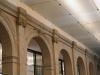 Berlyno - Brandenburgo mokslų akademijoje. Kulkų žymės arkose. Sunaikintos karo metu arkos atkurtos be lipdinių.